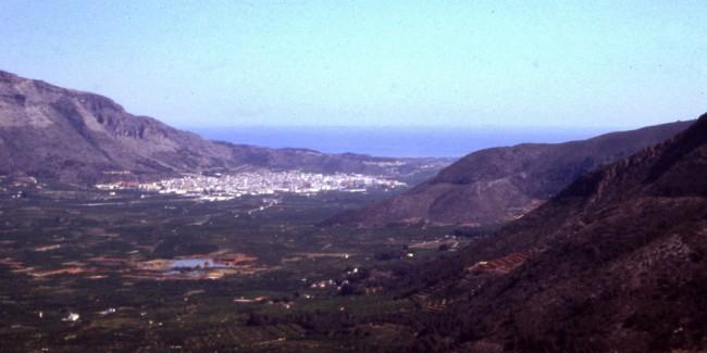La Valldigna con una pequeña area lacustre, años 1960-70